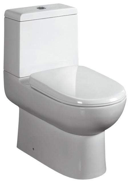 Ariel Platinum Camilla Contemporary European Toilet w/ Dual Flush 26x15x26 modern-toilets