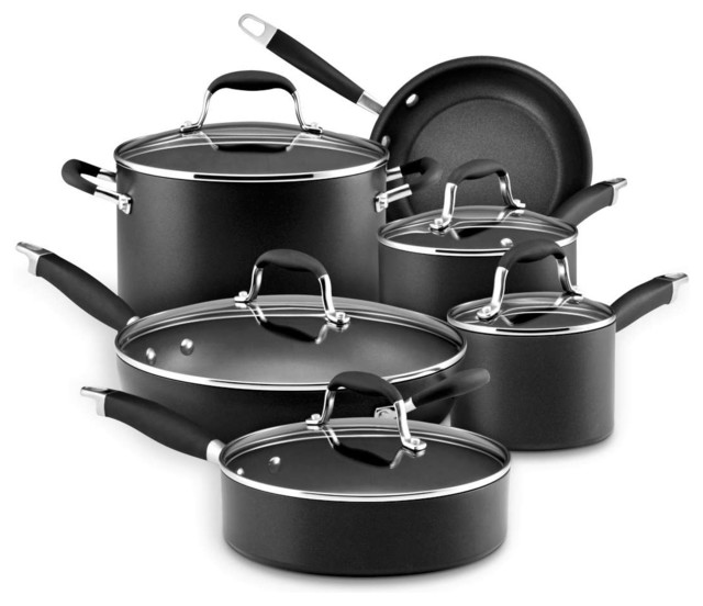 Anolon Advanced Hard Anodized Nonstick 11 Piece Cookware Set Modern Sets By Chef