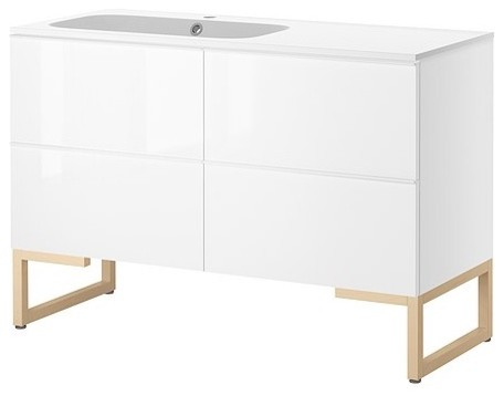 GODMORGON/NORRVIKEN Sink cabinet with 4 drawers modern bathroom vanities and sink consoles