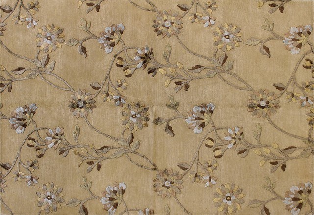 Regent - Trellis 8' X 10' wool & viscose pile area rug in ivory transitional-rugs
