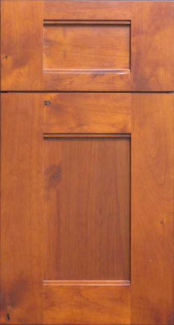 Custom Built Rustic Knotty Alder Shaker Style Cabinet Door Rustic Other Metro By Style