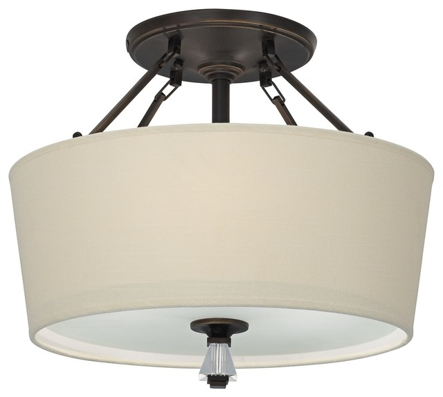 Modern Drum Ceiling Lights : Contemporary quoizel deluxe quot wide drum shade ceiling