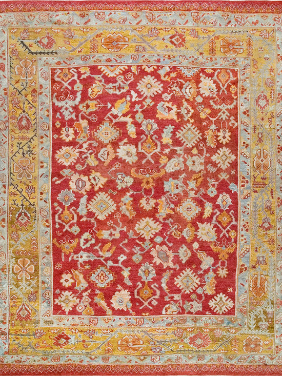 "Antique Turkish Oushak Carpets - #19156 antique Turkish Oushak carpet 10'6"" x 12'0"""