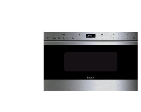 """WOLF 24"""" Transitional Drawer Microwave Stainless Steel 