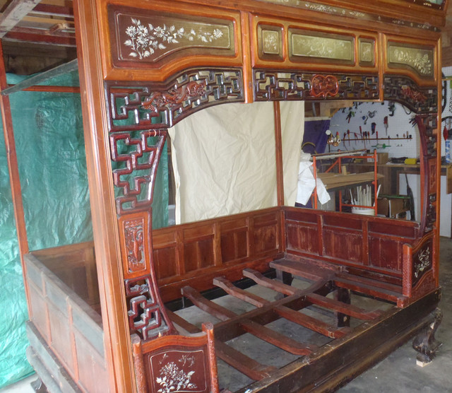 Antique Chinese Marriage Bed Asian Beds Milwaukee By Silk Road Collection
