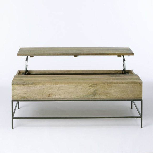 Rustic Storage Coffee Table contemporary-coffee-tables