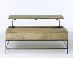 Rustic Storage Coffee Table contemporary coffee tables