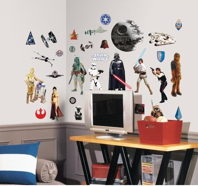 Star Wars Classic Peel & Stick Wall Decals modern-wall-decals