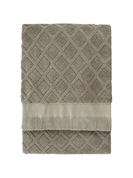 Nine Space - Trellis Bath Sheet, Sage - For the ultimate post-bath treat, wrap yourself in the luxury of pure Turkish cotton. Expertly loomed and generously sized, this bath sheet is amazingly soft and ultra absorbent.