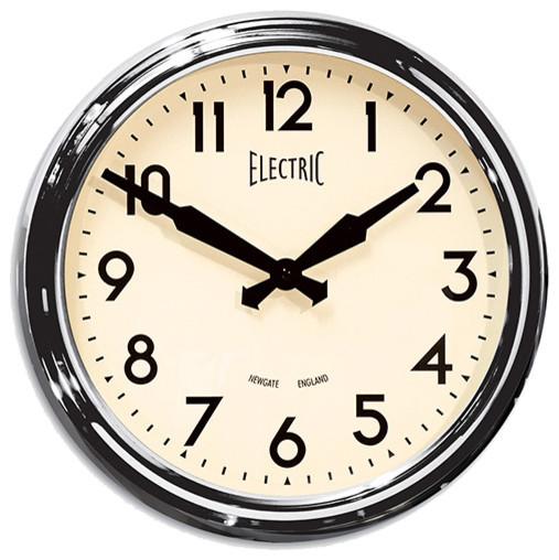 50's Wall Clock - Polished Aluminum - New gate Clocks modern-wall-clocks