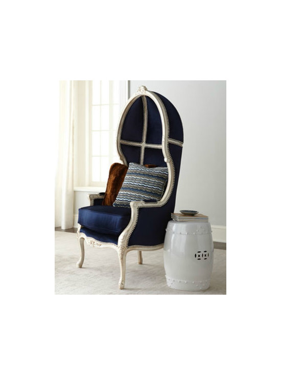 Massoud 'Harley' Balloon Chair - Balloon chairs are the modern-day throne, and one upholstered in such a deeply saturated sapphire is the epitome of luxury.