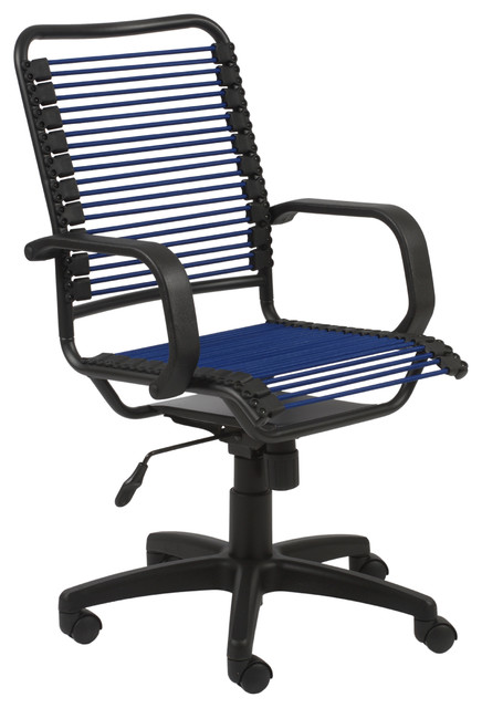 Blue/ Graphite Black Steel Office Chair contemporary-office-chairs