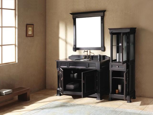 "48"" Catania Single Bath Vanity - Antique Black traditional"