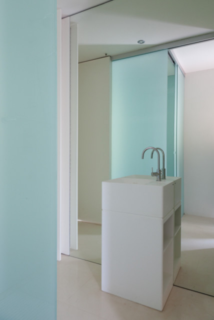 HOUSE REHABILITATION IN BELLATERRA by YLAB ARQUITECTOS BARCELONA contemporary-powder-room