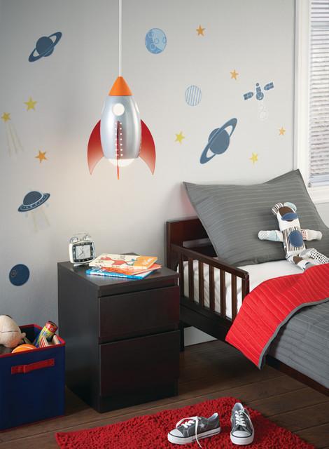 Rocket suspension light kids ceiling lighting chicago for Kids room lamps