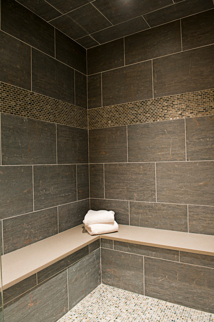slate in style contemporary wall and floor tile boston by art