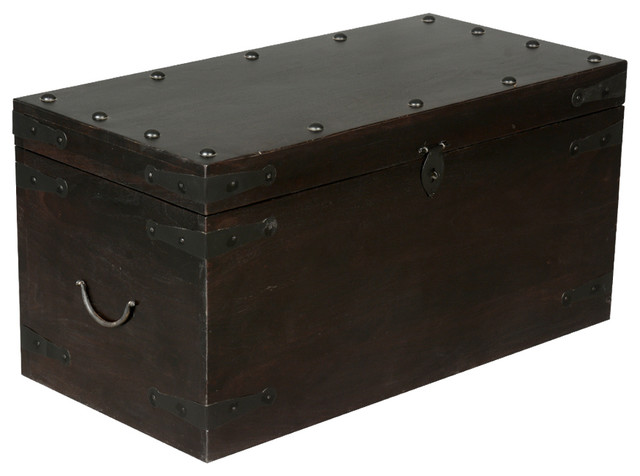 rustic solid wood wrought iron coffee table trunk. Black Bedroom Furniture Sets. Home Design Ideas