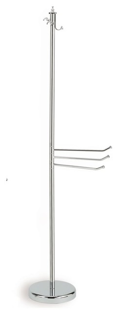 Classic Style Free Standing Brass Towel Stand by StilHaus traditional-towel-racks-and-stands