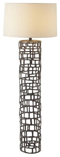 Arteriors Home Hansel Natural Iron Floor Lamp contemporary-floor-lamps