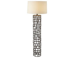 Arteriors Home Hansel Natural Iron Floor Lamp contemporary floor lamps