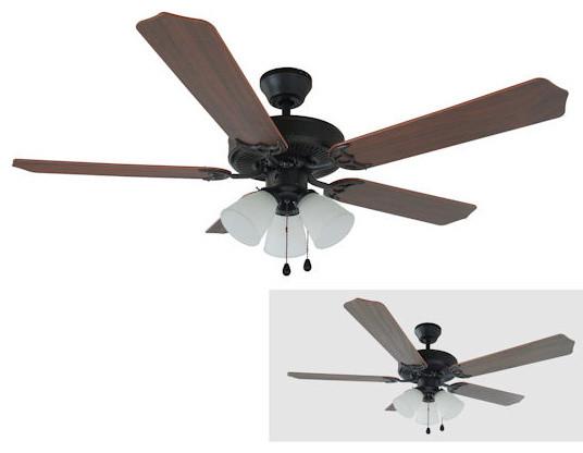 """Oil Rubbed Bronze 52"""" Ceiling Fan w Light Kit"""
