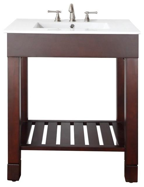 Avanity LOFT-VS30-DW Loft 30-in. Single Bathroom Vanity with Optional Mirror Mul modern-bathroom-vanities-and-sink-consoles