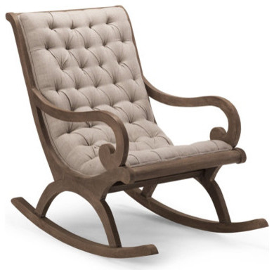 grayson rocker chair traditional rocking chairs by grandin road. Black Bedroom Furniture Sets. Home Design Ideas