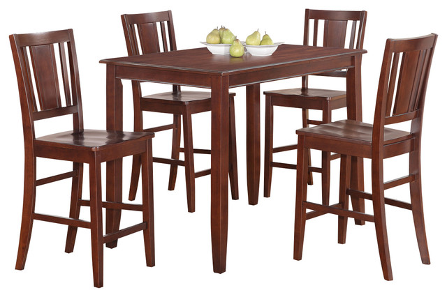 5 Piece Gathering Table Set High Top Table And 4 Kitchen