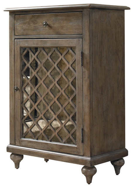 Mirrored Lattice Chest traditional-accent-chests-and-cabinets