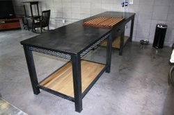 Modern Geometric Kitchen Island Table modern-dining-tables