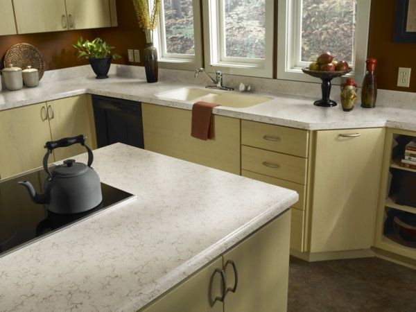 Zodiaq Coarse Marfil Countertops Modern Kitchen Countertops