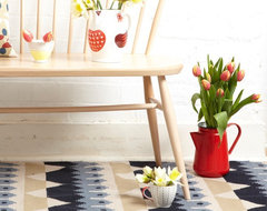 Mountain spot kilim rug by Donna Wilson eclectic-area-rugs