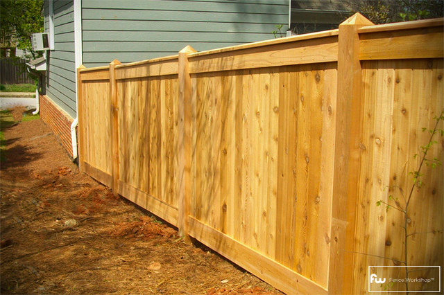 the sanford wood privacy fence home fencing and gates