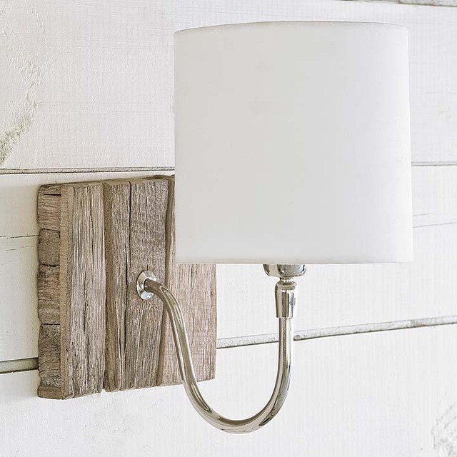 Regina Andrew Reclaimed Wood Bent Arm Pinup Sconce traditional-wall-lighting