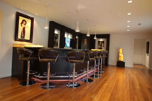 Bar Modern Basement Cleveland By Architectural Justice