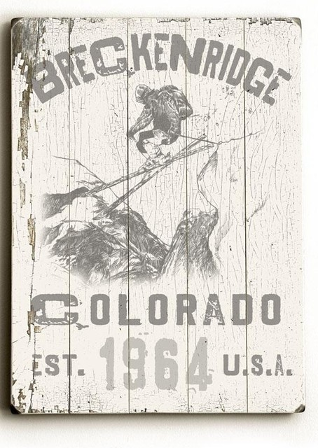 Breckenridge Colorado Wooden Sign traditional-novelty-signs