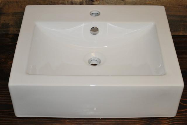 Porcelain Vessel Sinks Bathroom : SQUARE PORCELAIN VESSEL SINK CB03 - Bathroom Sinks - san diego - by ...