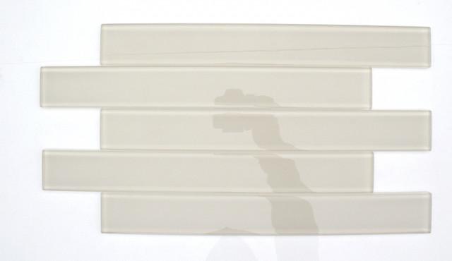 Loft Horizon Sand Beach Polished 2x16 Glass Tile traditional-tile