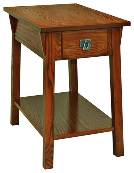 Arts and crafts mission leick furniture russet finish for Arts and crafts side table