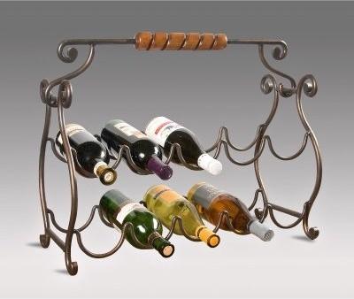 Butler Specialty Metal Wine Rack modern-barware