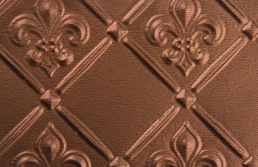 """WC 80 Faux Tin - Backsplash Roll - Fleur de Lis - 3 """" Pattern - Copper wallpaper"""