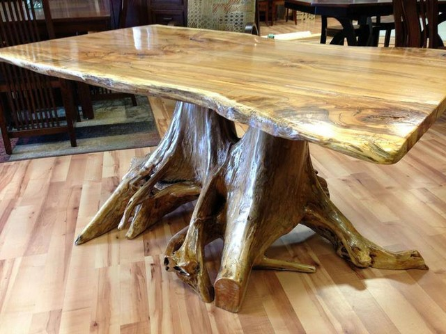 Live Edge Spalted Maple Coffee Table Modern Columbus