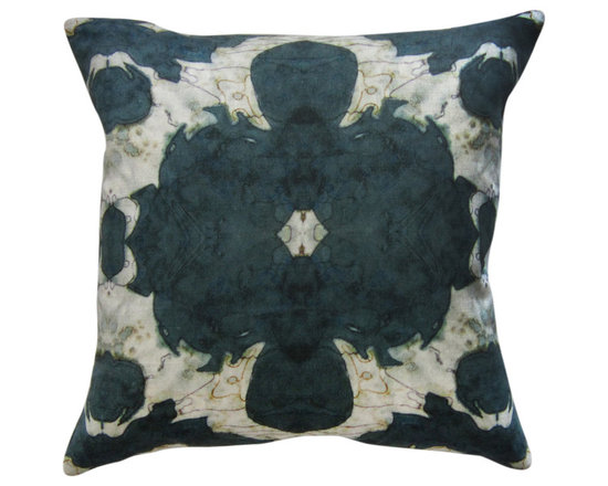 "The Dance - olive 18""x18"" pillow -"