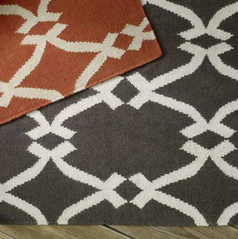 Lattice Dhurrie modern rugs