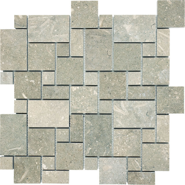 Seagrass Limestone Mini Versailles transitional-floor-tiles
