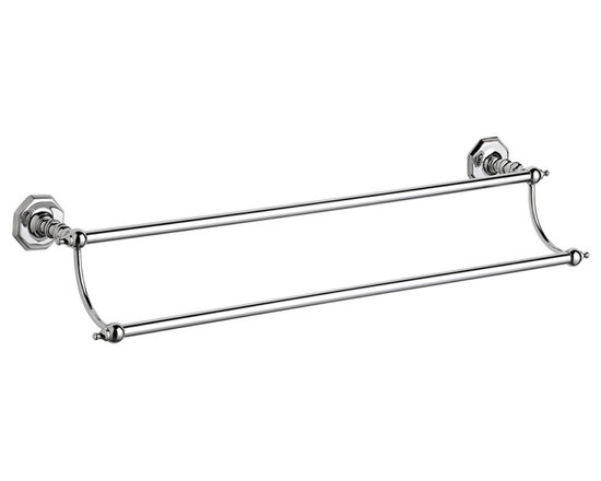 Hudson Reed - Hudson Reed Victorian Double Towel Rail - Our high quality brass luxury range of Victorian style bathroom accessories. Double Towel Rail Dimensions:  Height: 4.9 (124mm) Width: 26 (660mm) Depth: 6.1 (155mm) Available in Chrome Finish. Supplied with screws and wall plugs for wall attachment.