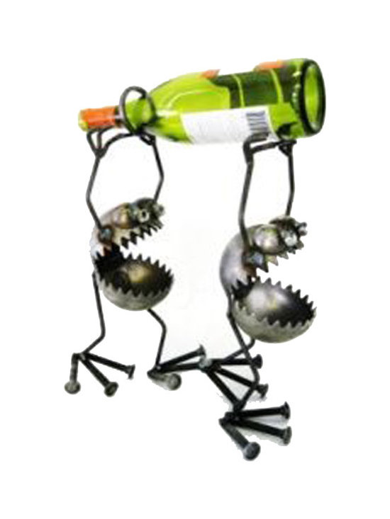 Wine Bearers - Fun, funky, and always very unique, Fred Conlon's award-winning metal art has appeared in art festivals across the nation. Handmade mostly from recycled material, factory seconds and stuff found in the scrap yard, each piece is unique and one of a kind.