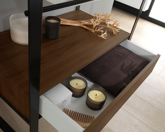 Modul Series (Wood) - Modul worktop with unit and drawer realized with KRION®.
