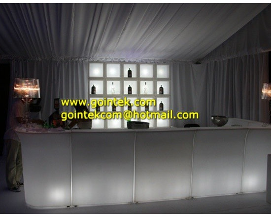 Hight Top Illuminated Led Furniture Lighted Bar Tables -