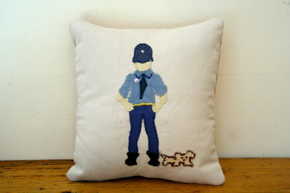 Police Officer Scatter Cushion decorative-pillows